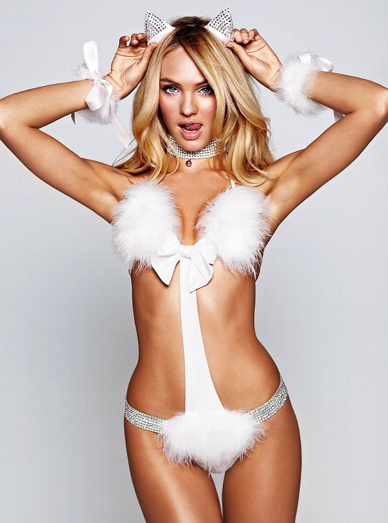 CANDICE SWANEPOEL at Victoria's Secret Lingerie Photoshoot